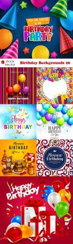 Vectors -- Birthday Backgrounds 26