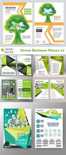 Vectors -- Green Business Flyers 14