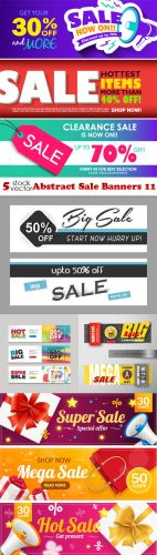 Vectors -- Abstract Sale Banners 11