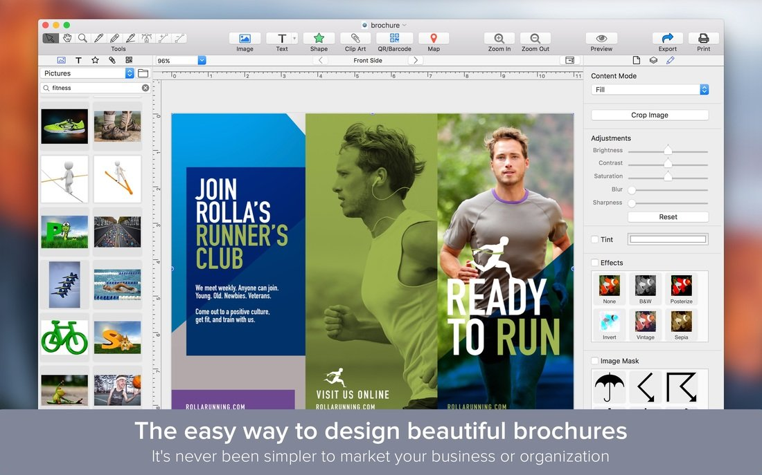 Download brochure maker 1 1 0 multilingual mac os x for Brochure design software for mac