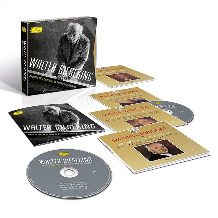 Download Walter Gieseking - Complete Bach Recordings on DG - 2017