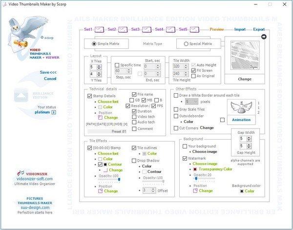 Video Thumbnails Maker Platinum 10.0.0.0 Multilingual + (Portable)