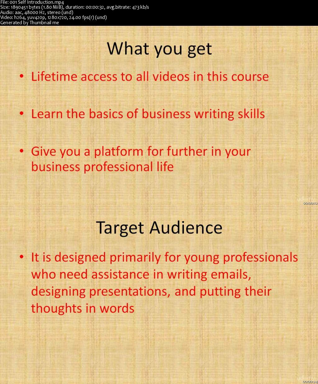 Business writing skills free