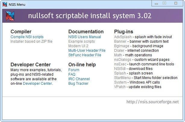 NSIS (Sistema de instalación de secuencias de comandos de Nullsoft) 3.02