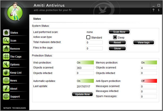 NETGATE Amiti Antivirus 2017 24.0.440.0 Multilingual