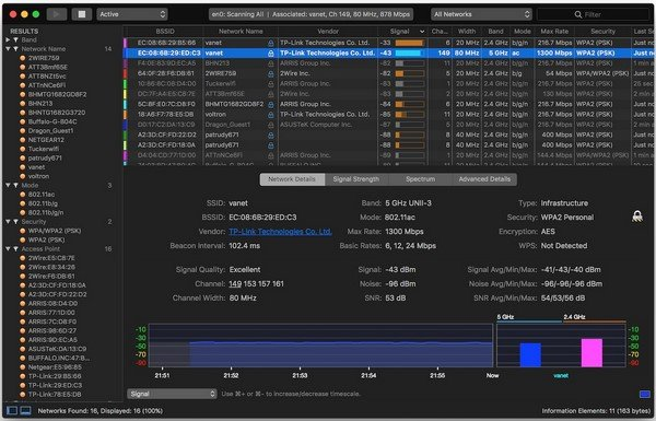 WiFi Explorer Pro 1.1.12 (MacOSX)