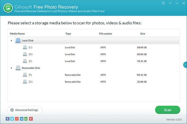 Gihosoft Free Photo Recovery 1.0.0 + Portable