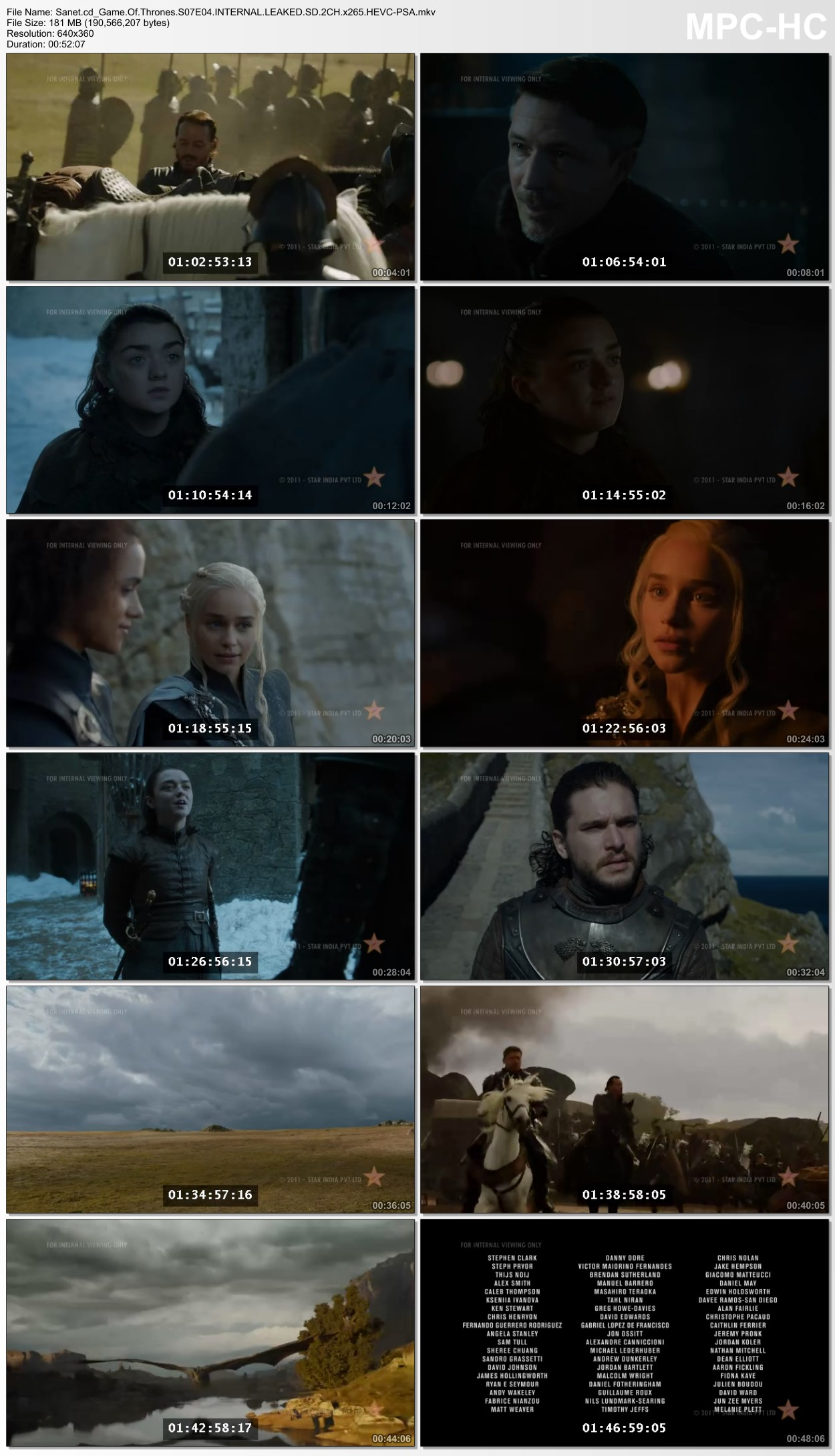 game of thrones s07e04 leaked