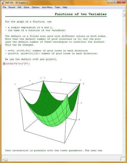 Euler Math Toolbox 2017.08.10 (x64) + (Portable)