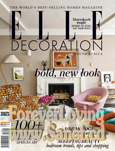 Download Elle Decoration South Africa August 2017