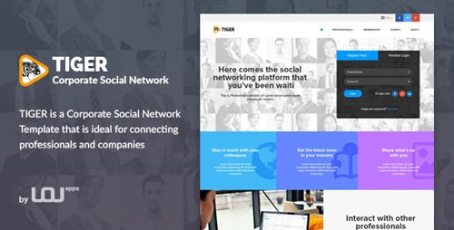 Download ThemeForest - Tiger - Corporate Social Network