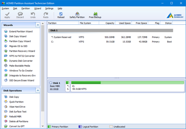 AOMEI Partition Assistant All Editions 6.5 Multilingual