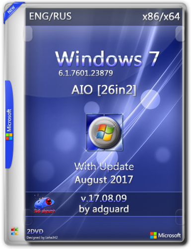 Windows 7 SP1 with Update 7601.23879 x86-x64 AIO 26in2 adguard v17.08.09