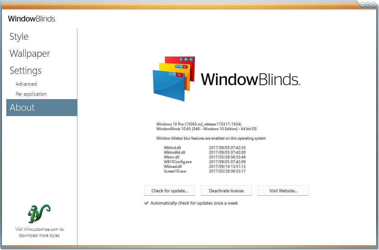 Stardock WindowBlinds 10.65