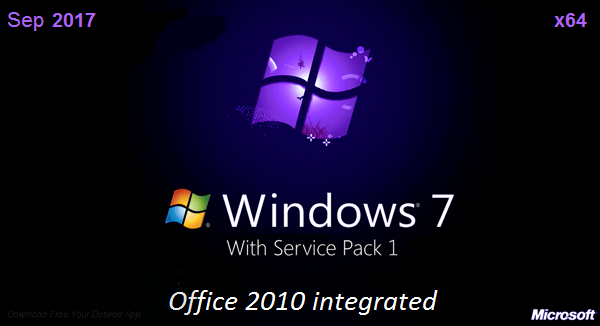 Download Windows 7 SP1 Ultimate X64 + Office 2010 en-US