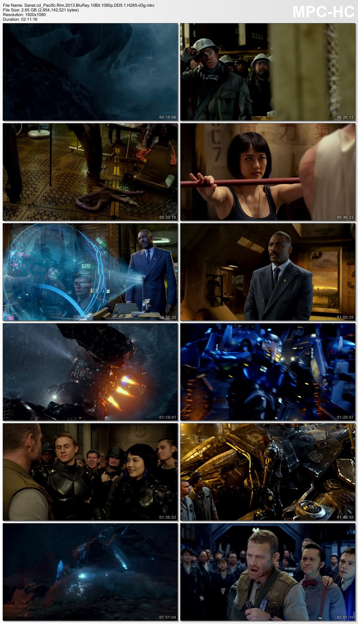 Download Pacific Rim 2013 BluRay 10Bit 1080p DD5.1 H265 ... Pacific Rim 2013 Bluray