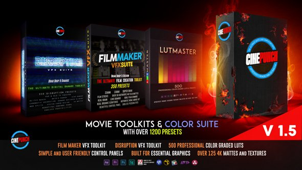 CINEPUNCH Master Suite - After Effects Presets (Videohive)