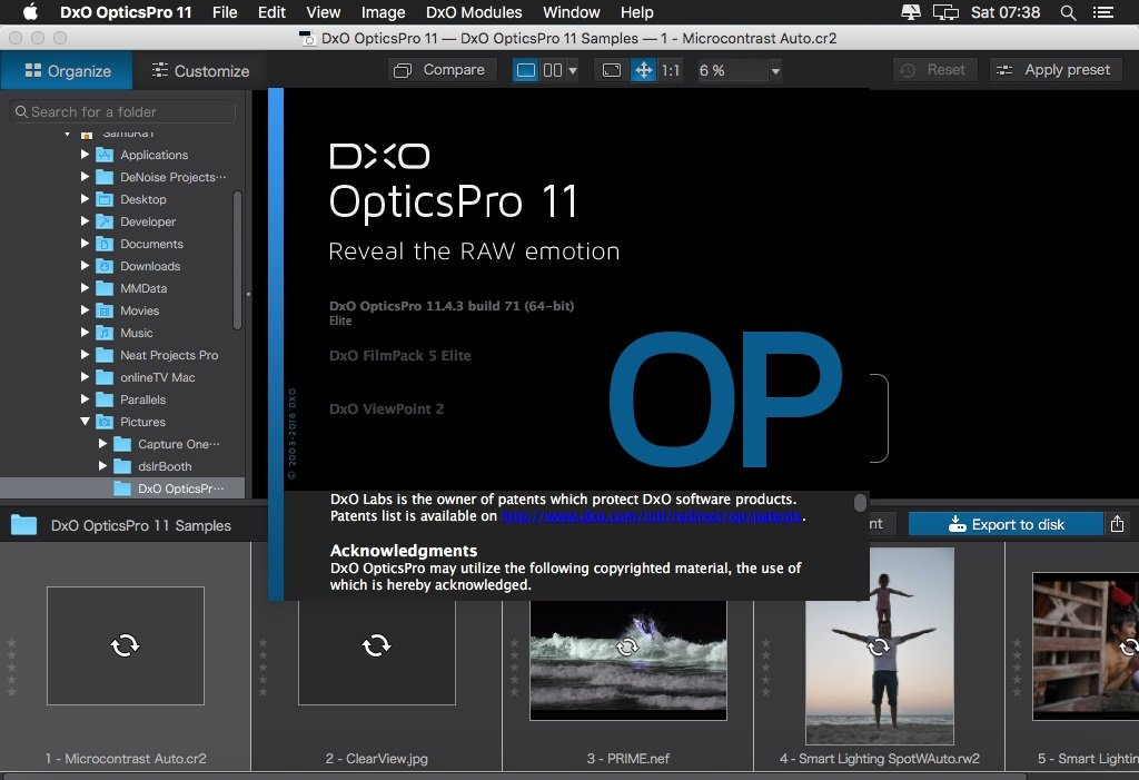 DxO Optics Pro v11.4.3 Build 71 Elite (macOS)
