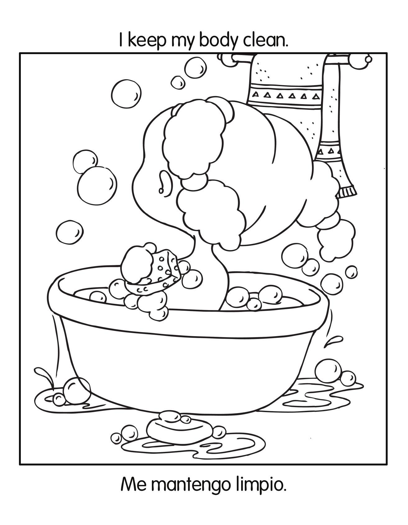 Download good habits coloring book health and nutrition for Healthy habits coloring pages