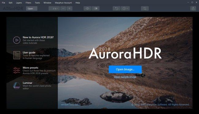 Aurora HDR 2018 1.0.1.682 Portable