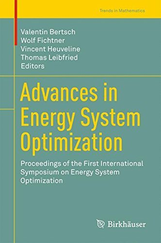 Advances in Energy System Optimization: Proceedings of the first International Symposium on Energy System Optimization