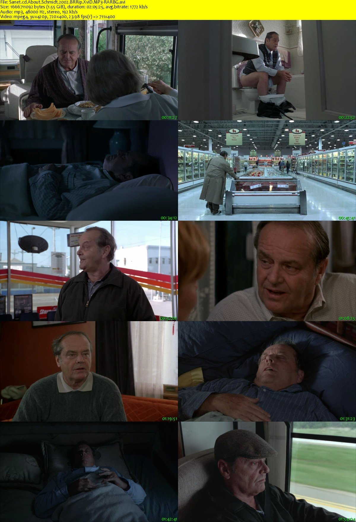 Subtitles for Movie About Schmidt 2002