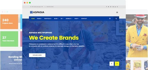 JoomShaper - Aspasia v1.9 - Responsive Joomla Template for Small Business and Portfolios Sites