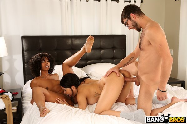 BangBros: Misty Stone, Aaliyah Hadid - A Hot Threesome With Dad's New GF