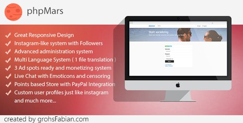 CodeCanyon - phpMars v1.0.9 - Photos Social Network ( instagram clone ) - 18600007