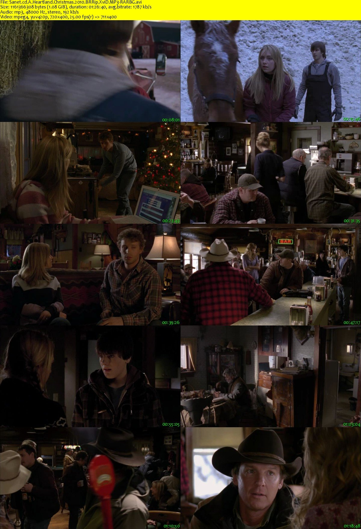A Heartland Christmas.Download A Heartland Christmas 2010 Brrip Xvid Mp3 Rarbg