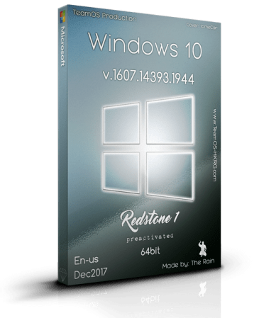 Windows 10 Pro RS1 v.1607.14393.1944 En-us x64 Dec2017 Pre-Activated