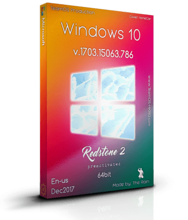 Windows 10 Pro RS2 v.1703.15063.786 En-us x64 Dec2017 Pre-Activated