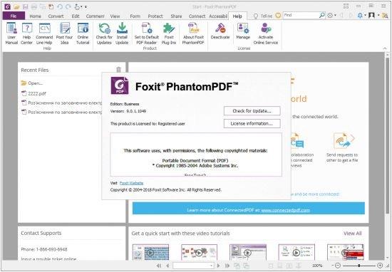 Foxit PhantomPDF Business 9.0.1.1049 Multilingual