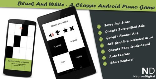CodeCanyon - Black and White - A Classical Android Piano Game (Update 28 August 14) - 8193670