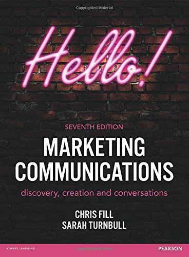 Chris Fill,  Sarah Turnbull – Marketing Communications, 7th Edition