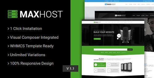 ThemeForest - MaxHost v2.5.1 - Web Hosting, WHMCS and Corporate Business WordPress Theme with WooCommerce - 15827691
