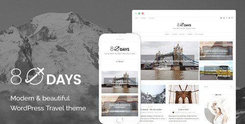 ThemeForest - EightyDays v2.2.2 - A WordPress Travel Theme For Travel Blogs - 16702695