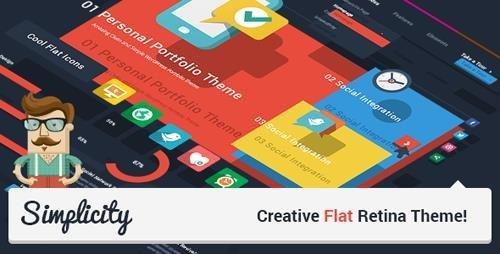 ThemeForest - Simplicity v1.7.2 - Creative Flat Retina Theme - 5477244