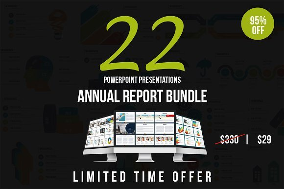 Annual Report Powerpoint Bundle 2195931
