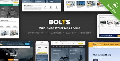 ThemeForest - Bolts v1.7.1 - WordPress Theme for Construction, Transport and similar Business - 19350890