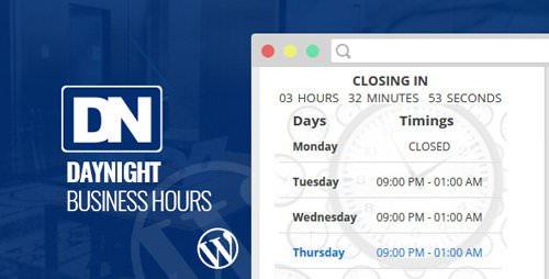 CodeCanyon - Day Night Business Hours v1.0.1 - WordPress Plugin - 18034739