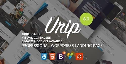 ThemeForest - Urip v8.1.5 - Professional WordPress Landing Page - 11690533