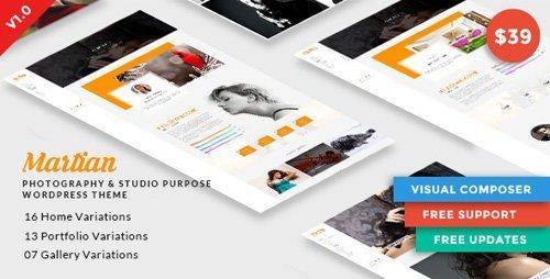 ThemeForest - Martian v1.0.0 - Photography & Studio Purpose WordPress Theme - 20822680
