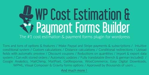 CodeCanyon - WP Cost Estimation & Payment Forms Builder v9.610 - 7818230