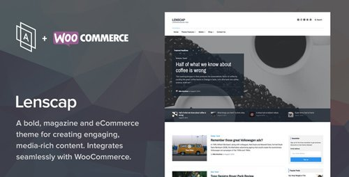 ThemeForest - Lenscap v1.3.5 - Magazine and eCommerce Theme - 18002812