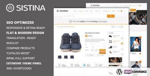 ThemeForest - Sistina v2.1.1 - Flat Multipurpose Shop Theme - 5220602