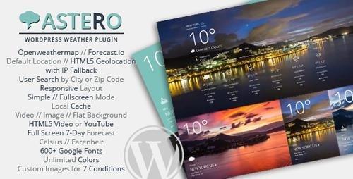 CodeCanyon - Astero WordPress Weather Plugin v1.3.4 - 9473087