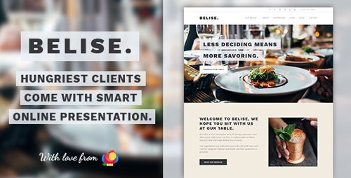ThemeForest - Belise v1.0.10 - Exquisite Minimalist Restaurant Theme - 19619976