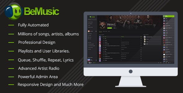 CodeCanyon - BeMusic v2.1.7 - Music Streaming Engine