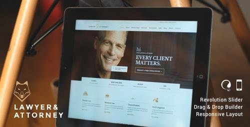 ThemeForest - Lawyer & Attorney v13.1 - Theme for Lawyers Attorneys and Law Firm - 9144445